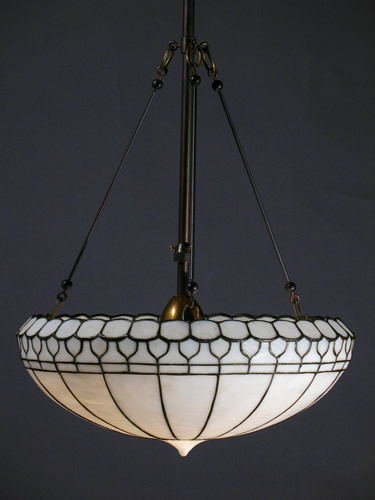 Favorite Antique Lighting Fixtures : Leaded Glass Inverted Domes - NL51