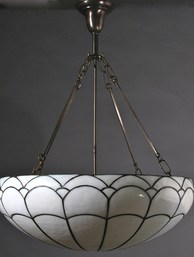 antique lighting fixtures leaded glass inverted domes