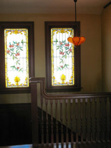 ik-sh-11-upstairs-hallway-stairs-circa-1915-leaded-glass-inverted-dome
