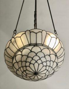 Anituqe Ceiling Light Leaded Glass